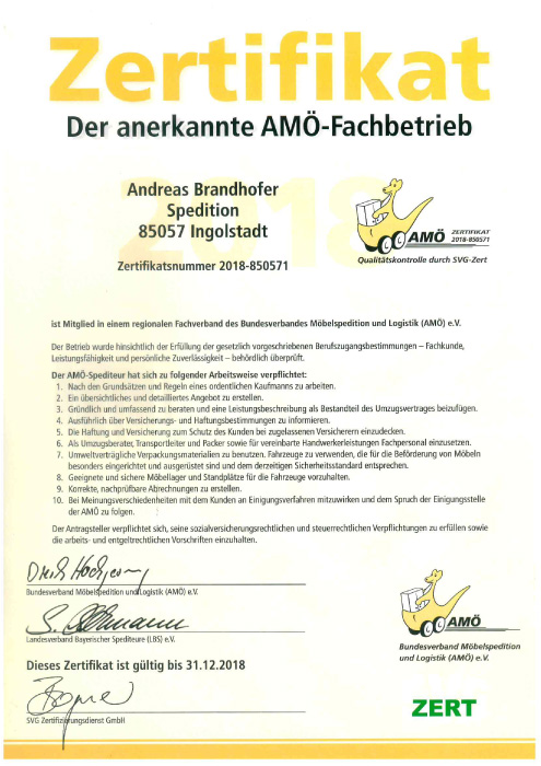 Spedition Brandhofer Ingolstadt
